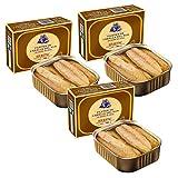 Filetes de caballa en aceite de oliva - Lata de 320 gr - Herpac. Salazones, ahumados y conservas (Pack de 3 latas)