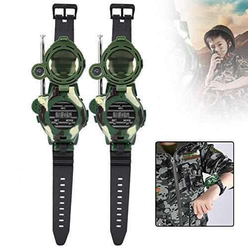 Naroote Watch Walkie Talkies, 2 Piezas de simulación para niños Reloj Militar Walkie Talkies Regalo de Juguete al Aire Libre