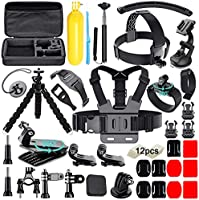 Soft Digits Accessories Bundle Kit Kompatibel för Gopro, En Storlek, Svart
