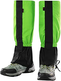 Orangehome Waterproof Outdoor Snow Leg Gaiters Windproof Legging Gaiters Mountaineering Leggings for Hiking Walking Climbing Hunting Men Women(1 Pair, Green)