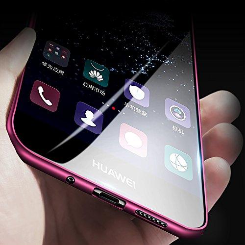 X-level Huawei P10 Lite Hülle, [Guadian Serie] Soft Flex Silikon Premium TPU Echtes Telefongefühl Handyhülle Schutzhülle für Huawei P10 Lite Case Cover [Weinrot] - 2