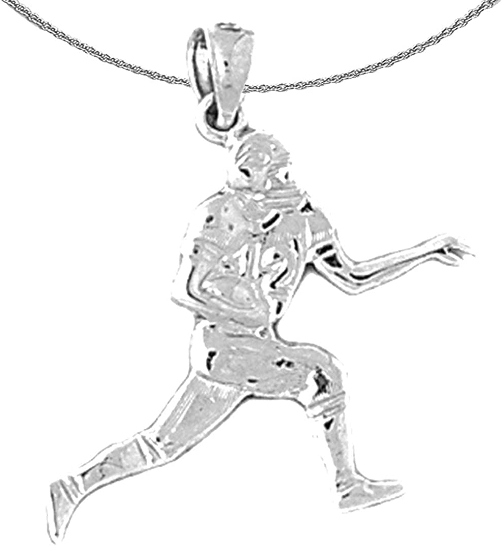 Jewels Obsession Gold Ranking TOP7 Football Necklace 40% OFF Cheap Sale White 14K Player