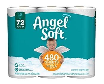 Angel Soft Toilet Paper 18 Mega Rolls Bath Tissue  1