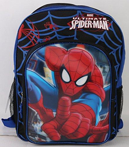 Marvel Ultimate Spiderman 16 Large Backpack 3D Hologram Blue