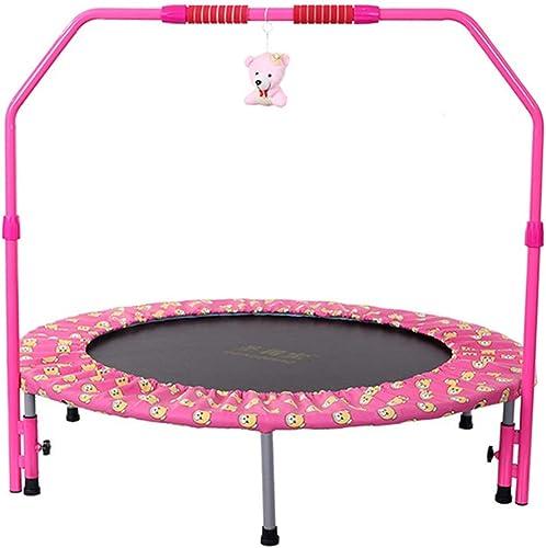 LKFSNGB Mini trampolín con reposabrazos para Niños, trampolín Deportivo Plegable - Trampolín para Padres e Hijos Deportes en Interiores o Exteriores