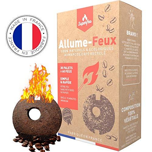 Superfeu - Encendedor natural ecológico para barbacoa, chimenea, camping, brasero