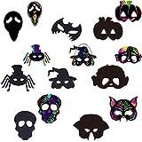 Fascigirl Masquerade Cosplay Lovely Halloween Mask Set Divertido Magic Festive Portable Rainbow Lovely DIY Máscaras De Papel para Rascar para Niños