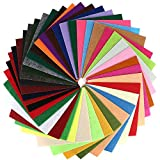 40 Pcs 6 x 6 Inches Craft Felt Fabric Sheets,...