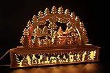 SchwibboLa 50 Original Erzgebirgischer Schwibbogen mit Erhöhung Lichterbogen XXL Verschieden Größen FREIE Auswahl (Motiv69: 72x45cm (BxH))
