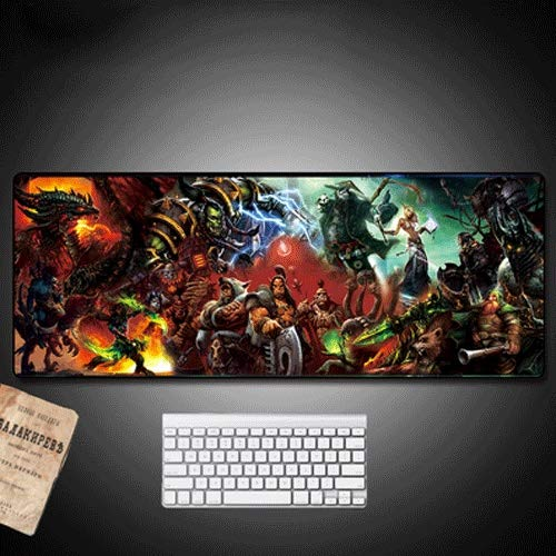 Xfwj WOW Game Character for PC Waterdicht Grootschalige Gaming Mouse Pad Multi-functie Comfortabel Mouse Pad 80 * 40cm Keyboard Membraan Custom Gaming Mouse Pad Non-slip