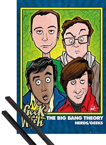 1art1 The Big Bang Theory Poster (91x61 cm) Nerds Geeks Et Kit De Fixation Noir