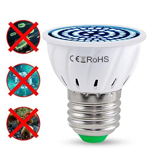 Lámpara Germicida E14 Luz Germicida E27 Esterilizador Uv Led 3W 5W 7W Lámpara De Ozono Luz Ultravioleta Interior Desinfectar Bacterial Kill Virus 1Pcs E14 80Leds