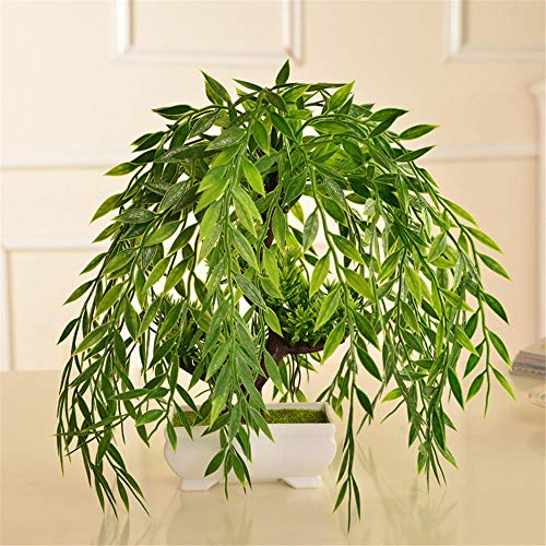 Yeslln Bonsai Artificial Árboles Plantas Artificiales Bonsái Decorativo Sauce llorón