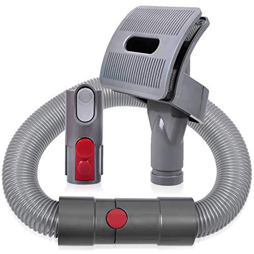 KEEPOW Groom Hundebürste für Dyson Staubsauger, Hund Tierhaarbürste Aufsatz mit Verlängerungsschlauch und Adapter für Dyson V11 V10 V8 V7 V6