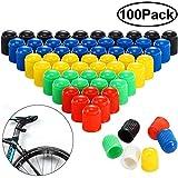 Hsei - Tappi antipolvere per valvole in plastica, per auto, moto, camion, bici e bicicletta, 6 colori assortiti