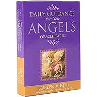 エンジェルスオラクルカードからの毎日のガイダンスEGuideブックEinstruction占いゲームカードを使用した英語のゴールドギルデッドタロットデッキ