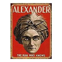 Alexander The Man Who Knows 注意看板メタル安全標識壁パネル注意マー表示パネル金属板のブリキ看板情報サイン