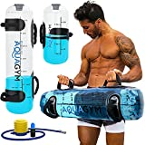AquaGym Water Weights Aqua Bag - Strength Training Equipment Bags - Sandbag Alternative for Fitness - Heavy Duty Workout Weight with Water (2 Set Bundle - 49 lbs and 12 lbs)