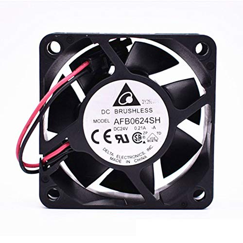 Delta AFB0624SH DC24V 0.21A 60x60x25mm 2-wire Server Cooling Fan