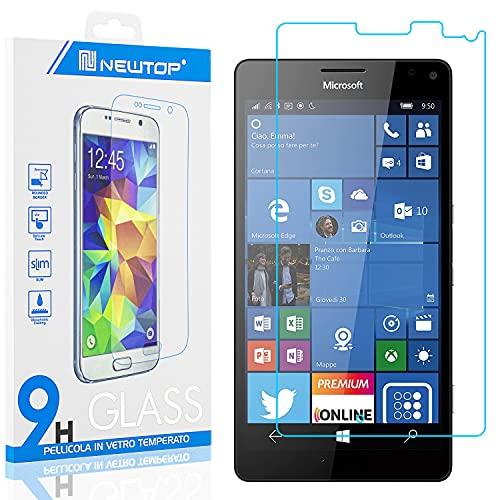 N NEWTOP [1 PEZZO] Pellicola GLASS FILM Compatibile con Microsoft Nokia Lumia 950 XL, Fina 0.3mm Durezza 9H Vetro Temperato Proteggi Schermo Display Protettiva Anti Urto Graffio Protezione