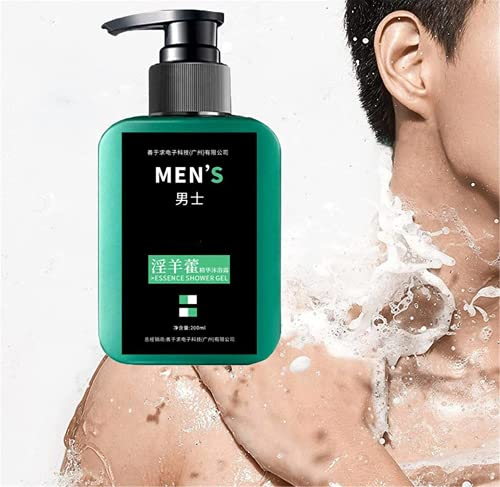 TTYJWDWY 200ml Man Epimedium Ginseng Essence Shower,3 in 1 Masculine Bathroom Fragrance,Gel Body Wash,Deep Cleaning,Refreshing Bathing Skin,Activate Men Primitive Appeal