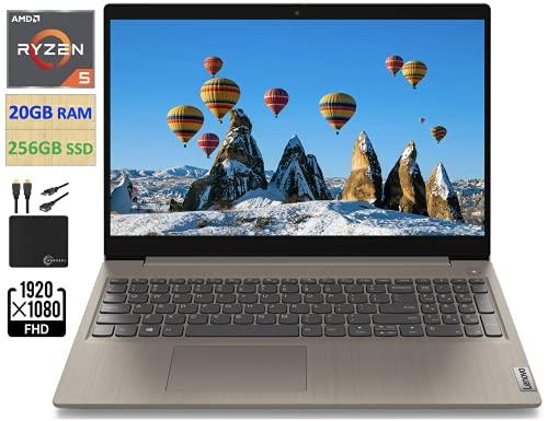 2021 Newest Lenovo IdeaPad 3 15.6' FHD Screen Laptop Computer, Quad-Core AMD Ryzen 5 3500U Up to...