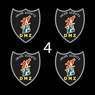 """US Army Badge Imjin Scout 3"""" (4)Four Decal Sticker Lot"""