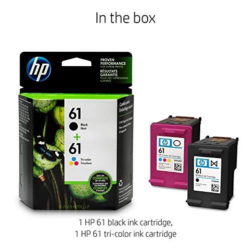 HP 61 | 2 Ink Cartridges | Black, Tri-color | CH561WN, CH562WN