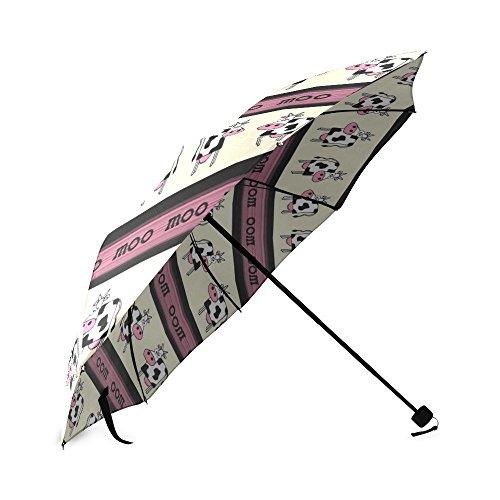 Aangepaste opvouwbare paraplu Moo koeien opvouwbare paraplu