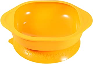 TOYANDONA Baby Bowls with Suction Soft and Flexible BPA Free Silicone Eating Training Bowl for Babies Kids Toddlers Orange