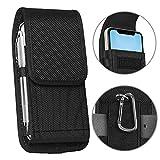 ykooe Handy Tasche Gürteltasche Nylon Hüftentasche für iPhone 11,7,6, Huawei/Honor/Samsung Galaxy A70/A40/A50/A20E/S10 Handytsche