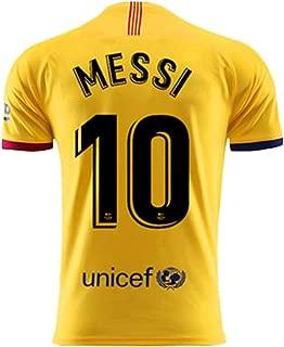 BADAWO 2019-2020 Barcelona #10 Messi Jersey Home Mens Soccer T-Shirt Red/Blue