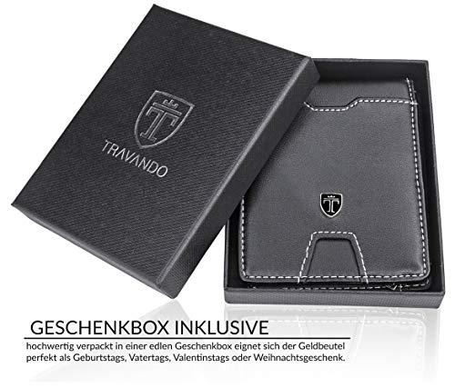 TRAVANDO Wallet Mens with Money Clip Dubai RFID Blocking Slim - Credit Card Holder - Mini Bifold Wallet for Men with Gift Box
