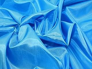Polyester Habotai Lining Fabric Turquoise - per metre