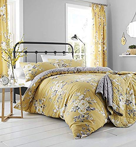 Catherine Lansfield Canterbury Easy Care Super King Duvet Set Ochre