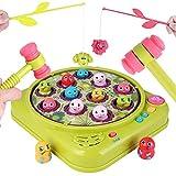 Hammerspiel Angelspiel, Toymus Interactives Hammerspiel Spielzeug, Angelspiel kinderspielzeug lernspielzeug, pädagogisches spielzeug ab 1 2 3 4 5 jahr für Jungen Mädchen,Zwei Hämmer und Angelruten