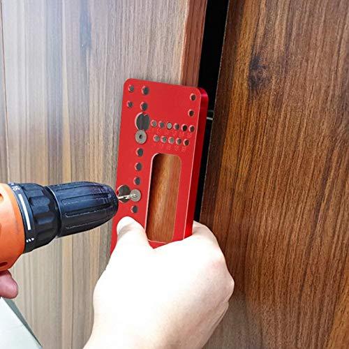 Localizador de orificios Mango Plantilla de orificios Aleación de aluminio de alta dureza para profesionales(08610B red)
