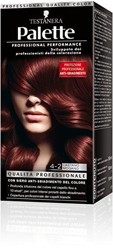 Schwarzkopf, Palette Classic, Colorazione Permanente con Tecnologia SalonPlex, 4-2 Castano Mogano