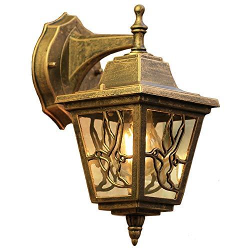 Yangmanini Europea Pasillo al Aire Libre lámpara de Pared Resistente al Agua balcón escaleras Luces Americanas Pasillo Lámpara del Dormitorio Sala de Estar Retro 18 * 27CM