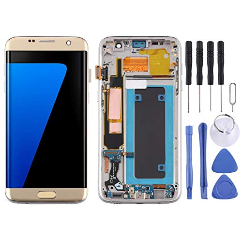 SHISHUFEN Pantalla de repuesto OLED Material Pantalla LCD y digitalizador Montaje completo con marco para Samsung Galaxy S7 Edge/SM-G935F