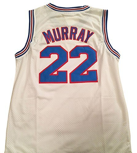 Bill Murray Space Jam Jersey - #22 Tune Squad - White (X-Large) by Space Jam