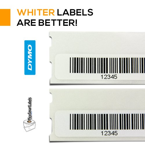 "OfficeSmartLabels - 1/2"" x 1-7/8"" Multipurpose/Library Barcode Labels, Compatible with Dymo 30346 (4 Rolls - 600 Labels Per Roll) Photo #6"
