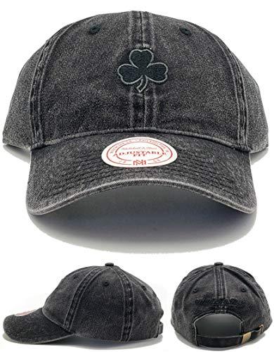 Mitchell & Ness Boston Celtics New Distressed Dad Clean Up Black Era Hat Cap