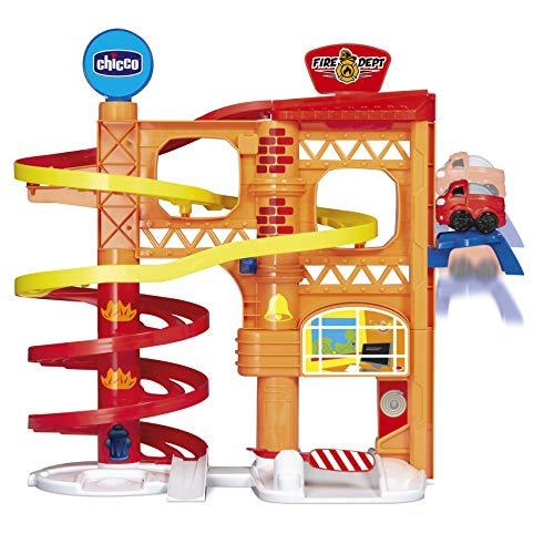 Chicco TURBO BALL - FEUERWEHRSTATION, Feuerwehrstation Parkhaus mit Spielzeugauto, ab 1 Jahr