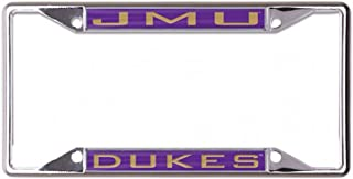WinCraft NCAA James Madison University JMU Dukes Metal License Plate Frame with Inlaid Acrylic, 4 Mount Holes