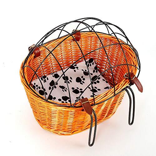 Canasta para mascotas, canasta para perros en la parte trasera Portaequipajes 42 x 31 cm Canasta para bicicletas