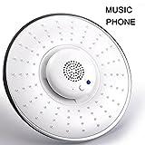 ZREAL Douchette Musique Pomme de douche avec Haut-Parleur Bluetooth Imperméable Tête de douche avec Micro Enceinte Intégrée pour WC Salle de Bain écouter de la musique 12 heures