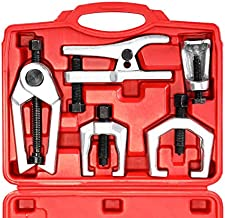 Orion Motor Tech 5-in-1 Ball Joint Separator, Pitman Arm Puller, Tie Rod End Tool Set for Front End Service, Splitter Removal Kit