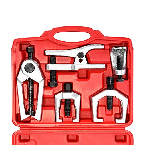 Orion Motor Tech 5-in-1 Ball Joint Separator, Pitman Arm Puller, Tie Rod End Tool Set for Front End Service, Splitter Removal Kit (RD06)