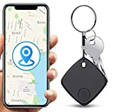 Key Finder, Keychain Tracker, Remote Shutter for Smartphone Bluetooth Camera,Item Tracker with Android/iOS Bluetooth Function to find Pets, Wallets and Keys (Black)